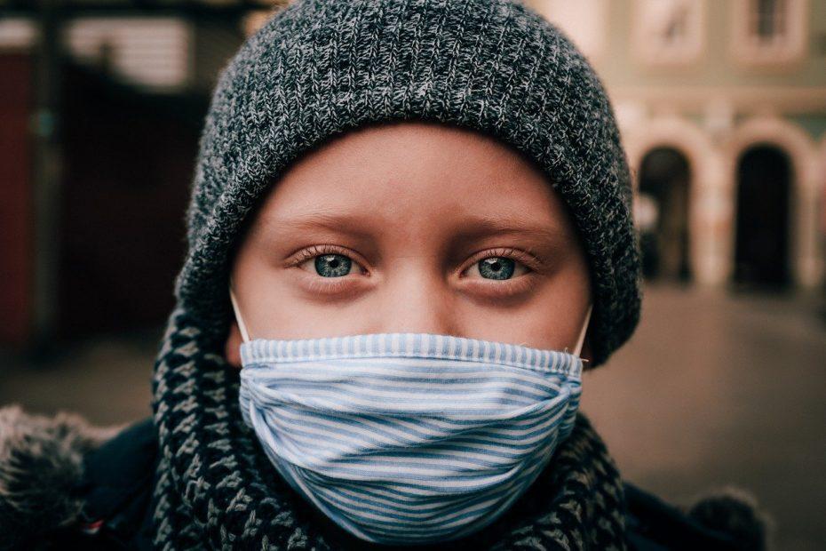 child, face mask, portrait